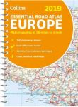 COLLINS EUROPE 2019 - ESSENTIAL ROAD ATLAS (EURÓPA ATLASZ, SPIRÁL A4)